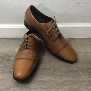 Cole Haan British Tan Brown Leather Oxford Size 12